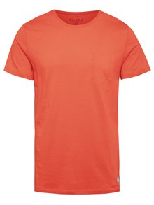 Červené regular fit triko s imitací náprsní kapsy Blend