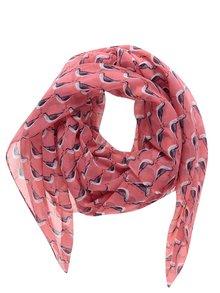 Růžový vzorovaný šátek Tom Joule