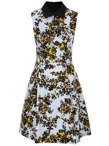 Světle modré šaty bez rukávů s květovaným potiskem NISSA