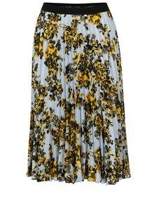Světle modrá plisovaná sukně s květovaným potiskem NISSA