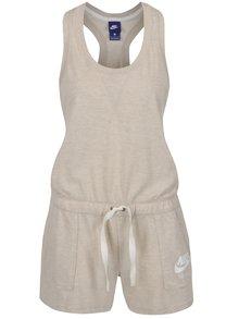 Béžový dámsky krátky overal Nike