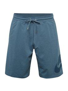 Modré pánské teplákové loose fit kraťasy Nike