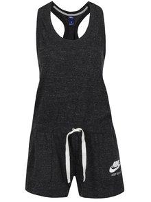 Čierny dámsky krátky melírovaný overal Nike
