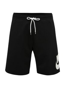 Černé pánské teplákové loose fit kraťasy Nike