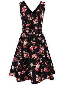 Rochie neagră Dolly & Dotty May cu model floral