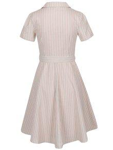 Ružovo-krémové pruhované šaty s opaskom Dolly & Dotty Jannie