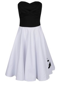 Černo-bílé šaty s výšivkou kotvy Dolly & Dotty Melissa