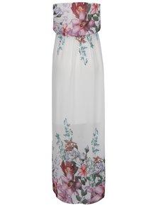 Rochie lungă crem Haily´s Kelsie  cu model floral
