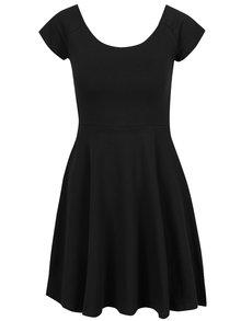 Rochie neagră Haily´s Naomi cu bretele încrucișate pe spate