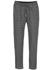 Bielo-čierne vzorované nohavice Haily´s Ricky