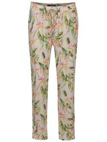Pantaloni roz deschis Haily´s Ricky cu model floral