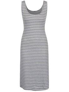 Bílo-šedé pruhované šaty Haily´s Chinaly