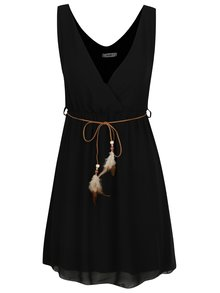 Rochie neagră Haily´s Mira  cu curea în talie