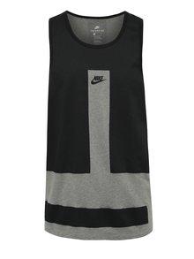 Černo-šedé pánské tílko Nike Modern