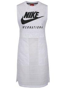 Bílé dámské dlouhé tílko s potiskem Nike