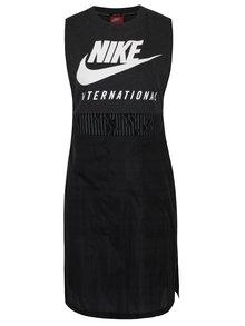 Černé dámské dlouhé tílko s potiskem Nike