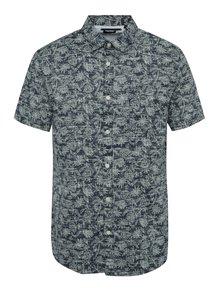 Modrá košeľa s tropickým vzorom ONLY & SONS Alfred