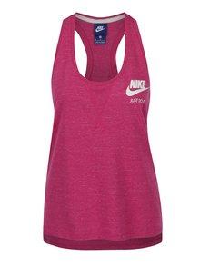 Tmavě růžové dámské žíhané tílko Nike
