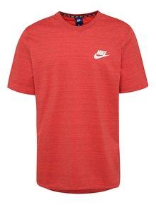Červené žíhané pánské tričko Nike Sportswear Advance 15