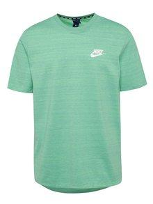 Světle zelené žíhané pánské tričko Nike Sportswear Advance 15
