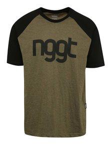 Černo-zelené pánské triko s potiskem NUGGET Asset