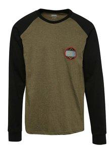 Bluza sport verde olive NUGGET Module cu maneci raglan negre