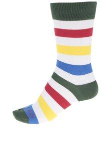 Bílo-zelené dámské pruhované ponožky Fusakle Zebrič