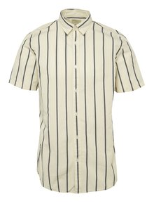 Krémová pruhovaná košeľa s krátkym rukávom Selected Homme Honelouis