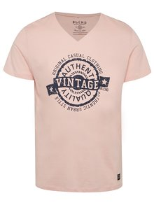 Tricou roz pal Blend cu print