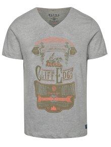 Sivé tričko s farebnou potlačou Blend