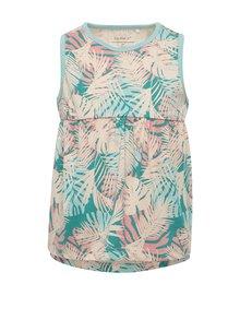 Zeleno-růžové holčičí květované šaty name it Viggajo