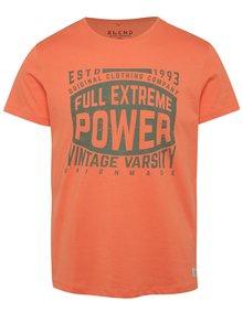 Tricou portocaliu Blend cu print cu text