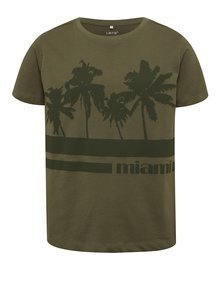 Tricou kaki cu print frontal LIMITED by name it Victornur
