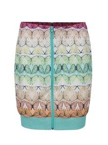 Svetlozelená vzorovaná sukňa so zipsom adidas Originals