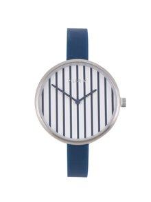 Dámske postriebrené hodinky so silikónovým remienkom Pilgrim