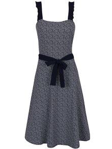 Tmavě modré vzorované šaty bez rukávů Dorothy Perkins Tall