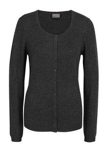 Tmavosivý sveter s gombíkmi VERO MODA Glory
