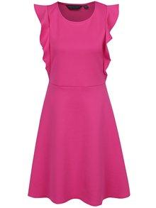 Ružové šaty s volánmi Dorothy Perkins Tall