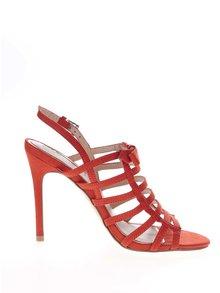 Sandale roșii Miss Selfridge cu aspect de piele întoarsă