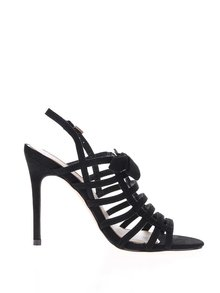 Černé sandálky v semišové úpravě Miss Selfridge