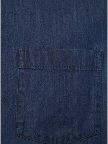 Camasa albastra cu maneci scurte Burton Menswear London din denim