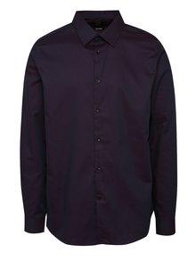 Fialová vzorovaná slim fit košile Burton Menswear London