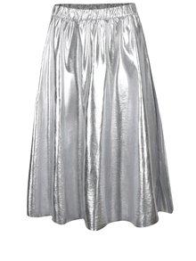 Fustă midi argintie VILA Hellen