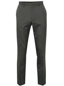 Sivé formálne slim nohavice Burton Menswear London
