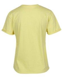 Žluté tričko s potiskem Miss Selfridge