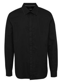 Sivo-čierna vzorovaná slim fit košeľa Burton Menswear London