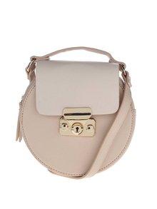 Krémovo-ružová okrúhla malá kabelka Miss Selfridge