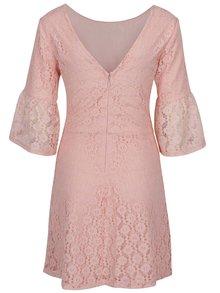 Světle růžové krajkové šaty Miss Selfridge