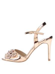 Sandálky ve zlaté barvě s ozdobnými flitry Dorothy Perkins