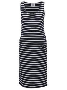 Krémovo-modré pruhované těhotenské šaty Mama.licious Lea